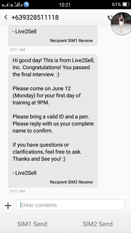 the story of a call center applicant who refused to give up